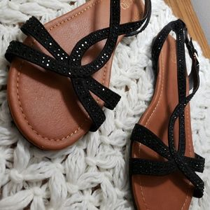 CATO Flat Ankle Strap Sandles